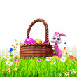 Happy easter bunny - Stock Photo