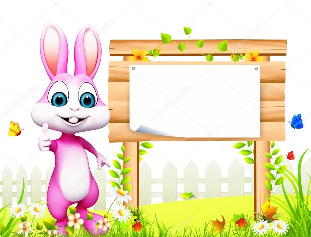 ppt边框动物兔子