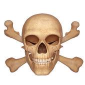 Sinal de perigo com caveira e ossos — Foto Stock