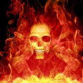 Skeleton burning — 图库照片