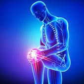 Dolor de rodilla masculino — Foto de Stock