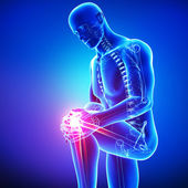 Male knee pain — 图库照片