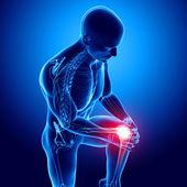 Dor no joelho masculino — Foto Stock