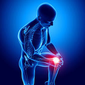 Männliche knieschmerzen — Stockfoto