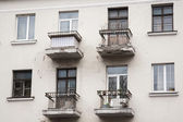 Old balconies in Minsk — Stock Photo