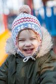Boy in hat — Stock Photo
