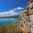 Stock Photo: Ancient wall in sea