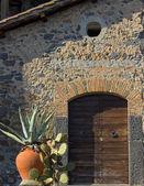Mediterranean door — Stock Photo