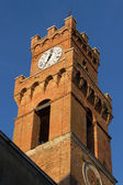 Pienza city tower — Stock Photo
