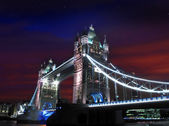 Tower bridge at the dusk — Stock Photo