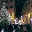 Stock Video: Christmas in Rome