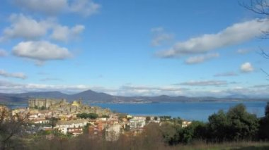Bracciano zoom timelapse — Stock Video