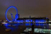 London Eye at the night 2 — Foto Stock