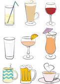 9 drink icons — Stock Vector