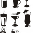 Royalty-Free Stock Vector Image: Drink icons
