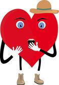 Frightened heart — Stock Vector