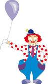 Funny clown — Stock Vector