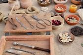 Medieval ingredients — Stock Photo