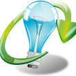 Eco light bulb — Stock Photo