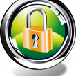 Stock Photo: Padlock web button