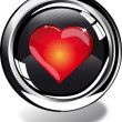 Heart web button — Stock Photo