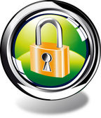 Padlock web button — Stock Photo