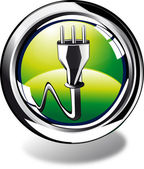 Voltage web button — Stock Photo