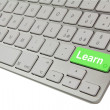 Stock Photo: Learn keyboard