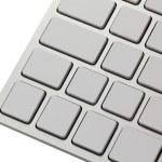 White keyboard — Stock Photo