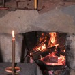 Antique fire - Stock Photo