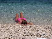 Dziewczyna w wodzie — Zdjęcie stockowe