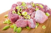 Kött och lök — Stockfoto