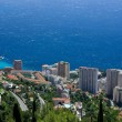 Monte Carlo aerial view, Cote d'Azur, France — Stock Photo