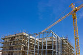Built Structure and tower Crane — Stock Photo