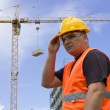 Foto Stock: Worker on Construction site