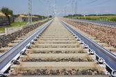 Primer plano del ferrocarril — Foto de Stock