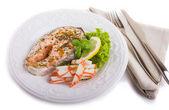 Salmon Dinner — Stock Photo