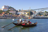 Rabelo boats in Porto — Stock Photo