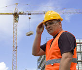 Worker on Construction site — Stock Photo