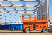 Hydraulic mobile construction platform — Stock Photo