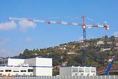 Crane on Construction Site — Stock Photo