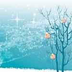 Рождественская елка с украшениями — Cтоковый вектор #15325235