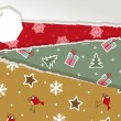 Vintage Christmas torn paper - Stock Vector