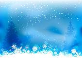 Vánoční přírodní pozadí — Stock vektor