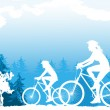 Cycling — Vector de stock #15346999