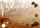 Fondo del café — Vector de stock