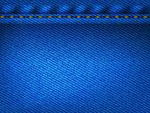 Mavi jeans doku arka plan — Stok Vektör