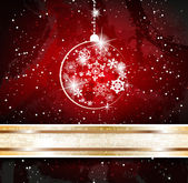 Background with christmas baubles — Stock Vector