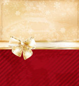 Christmas background with bow — Vector de stock