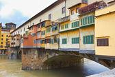 欣尝佛罗伦萨、 arno 河和庞特维奇奥 — 图库照片